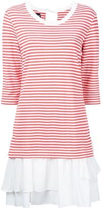 Moschino stripe-print layered dress