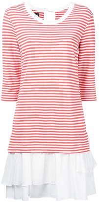 Boutique Moschino Stripe-Print Layered Dress