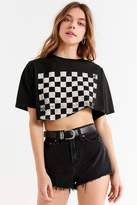 Truly Madly Deeply Checkerboard Cropped Tee