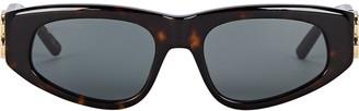Balenciaga Dynasty Logo Rectangle Sunglasses