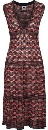 M Missoni Metallic Crochet-Knit Midi Dress