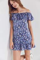 Kimchi & Blue Kimchi Blue Floral Ruffle Off-The-Shoulder Mini Dress