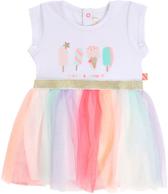 Billieblush Girl's Ice Cream Print Jersey & Tulle Dress, Size 12M-3