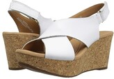 Clarks Annadel Eirwyn (White Leather) Women's Sandals