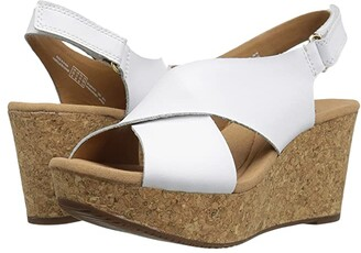 Clarks Annadel Eirwyn (White Leather) Women's Sandals