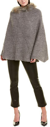 DOLCE CABO Wool-Blend Poncho