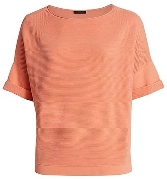 Lafayette 148 New York, Plus Size Cuffed Bateau T-Shirt