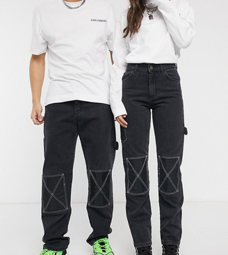 Collusion x000 Unisex 90's fit carpenter straight leg jeans