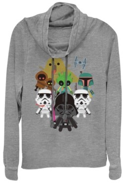 Fifth Sun Star Wars Kawaii Villains Cowl Neck Sweater
