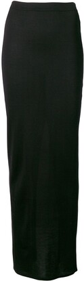 Rick Owens Fitted Long Skirt