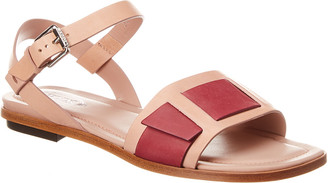 Tod's Leather Flat Sandal