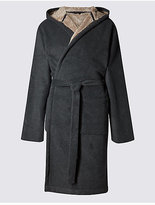 M&S Collection Stay Soft Bonded Fleece Dressing Gown