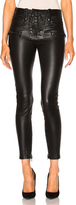 Unravel Leather Lace Up Skinny Pants in Black.