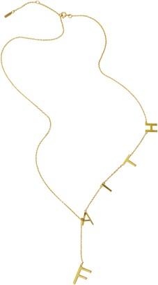 ADORNIA Faith Lariat Necklace