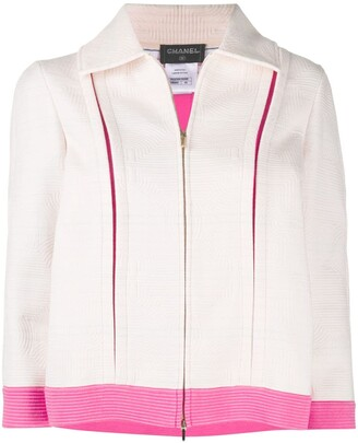 Chanel Pre Owned 2005 Cut-Out Zipped Jacket