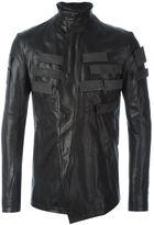 Julius appliqué detail leather jacket