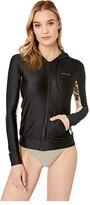 Rip Curl Long Sleeve Zip Surf Hoodie (Black) Women's Swimwear