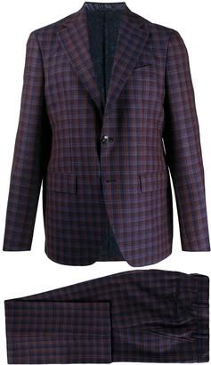 Etro Tartan Pattern Two-Piece Suit