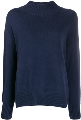 Allude funnel neck jumper