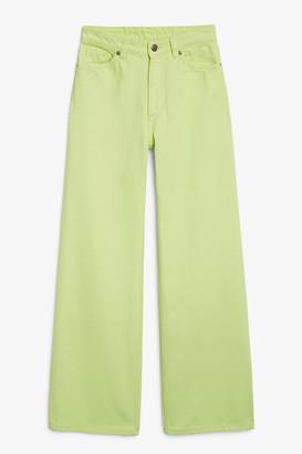 Monki Yoko lime jeans
