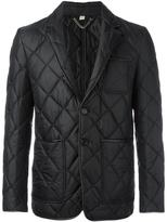 Burberry quilted single breasted blazer