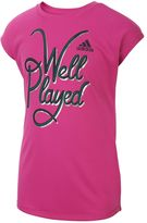 adidas Girls 7-16 climalite Drop Shoulder Graphic Tee