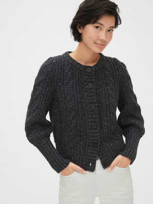 Gap Chunky Cable-Knit Cardigan Sweater