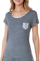 Kensie Dotted-Pocket Jersey Sleep Top
