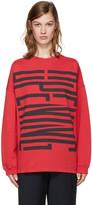 Opening Ceremony Red Cozy Stretch Sweatshirt