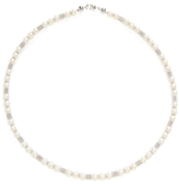 Rina Limor Fine Jewelry 18K White Gold & Freshwater Pearl Station Necklace