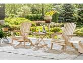 Adirondack Debose Solid Wood Folding Chair with Table Highland Dunes Color: Natural