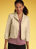 Stretch cotton twill bolero jacket
