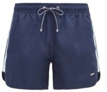 HUGO BOSS Quick Drying Swim Shorts With Side Stripes - White