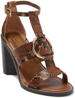 Franco Sarto Dandelion Strappy Snakeskin Embossed Leather Sandal