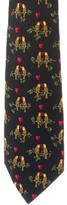 Hermes Silk Parrot Print Tie