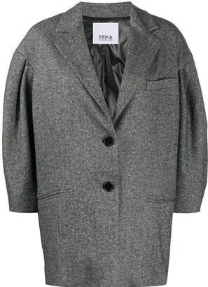 Erika Cavallini Single Breasted Cocoon-Sleeved Jacket