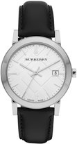 Burberry Watch, Men's Swiss Smooth Black Leather Strap 38mm BU9008