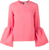 Roksanda Truffaut bell-sleeve top with round neck - women - Polyester/Spandex/Elastane - 10