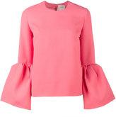 Roksanda Truffaut bell-sleeve top with round neck - women - Polyester/Spandex/Elastane - 10