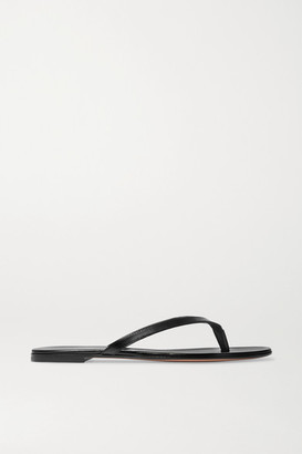 Gianvito Rossi Leather Flip Flops - Black
