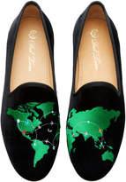 Del Toro Del Toro x Moda Operandi World Traveler Velvet Loafers