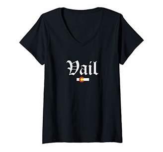 Womens Vail Colorado V-Neck T-Shirt