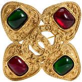 One Kings Lane Vintage Chanel Gripoix Maltese Cross Pin