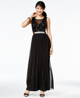 Amy Byer Juniors' Sequined Illusion Gown, A Macy's Exclusive Style