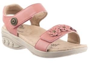 Therafit Shoe Sydney Adjustable Floral Leather Sandal Women's Shoes