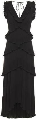 Zimmermann Tiered Ruffled Chiffon Midi Dress