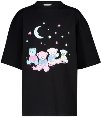 Balenciaga Printed oversized cotton T-shirt