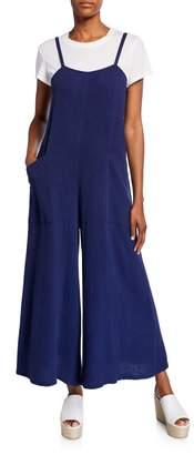 Rachel Pally Hugo Sleeveless Wide-Leg Cotton Gauze Jumpsuit