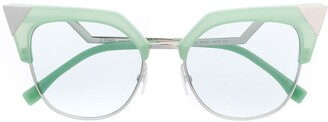 Fendi Eyewear Cat Eye Frame Sunglasses