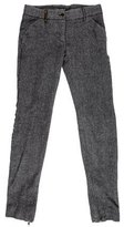 Dolce & Gabbana Virgin Wool & Cashmere-Blend Skinny Pants